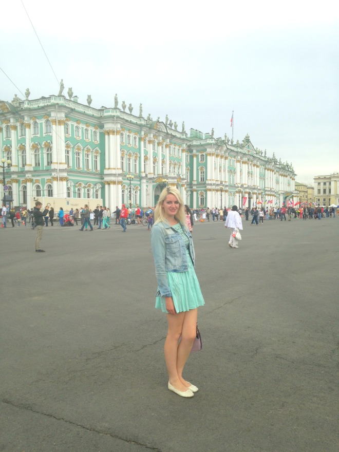 Elle at the Winter palace, St Petersburg
